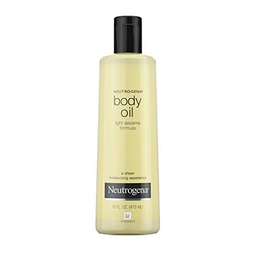 Neutrogena Lightweight Body Oil for Dry Skin, Sheer Body Moisturizer in Light Sesame Formula, 16 fl. oz