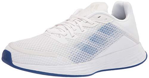adidas Women's Duramo SL Running Shoe, White/Screaming Pink/Dash Grey, 8