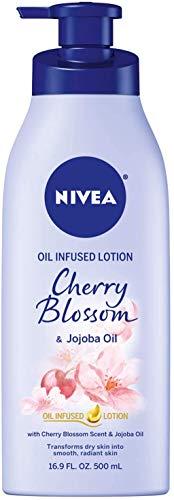 NIVEA Oil Infused Body Lotion Cherry Blossom and Jojoba Oil, 16.9 Fluid Ounce