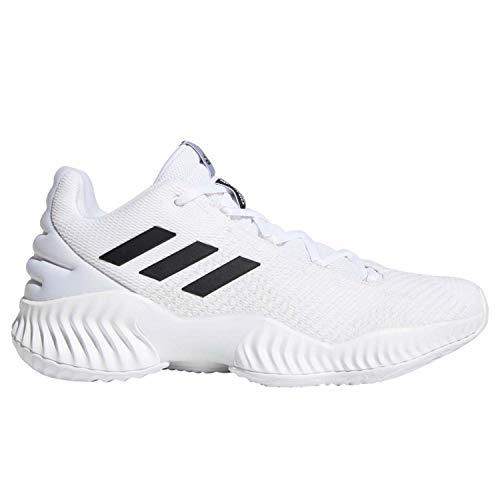 adidas Men's Pro Bounce 2018 Low Basketball Shoe, White/Black/Crystal White, 11.5 M US