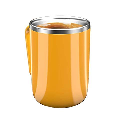 Self Stirring Mug-Stainless Steel Auto Mixing mug-Automatic Stirring Cup for Coffee Milk Tea-Birthday Gift Stirring Coffee Mug for office home outdoor (Orange)