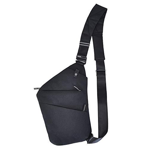 OSOCE Anti-Theft Waterproof Shoulder Backpack Sling Chest Crossbody Bag Cover Pack Rucksack Bicycle Sport (B13-Ⅰ-Black2)