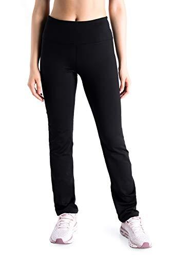 Yogipace Tall Women's 35' Fleece Lined Thermal Yoga Straight Leg Warm Sweatpants Winter Snow Pants with Zipper Pocket, Black, Size M