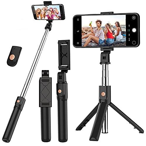 Selfie Stick, UPXON Wireless Remote Selfie Stick Tripod, Extendable Cell Phone Stand, 270° Rotation Portable Phone Tripod