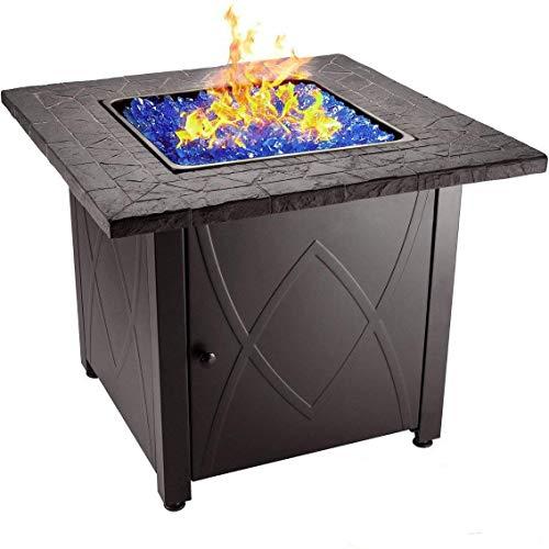 Endless Summer 30' Outdoor Propane Gas Fire Pit Table (Blue Fireglass)