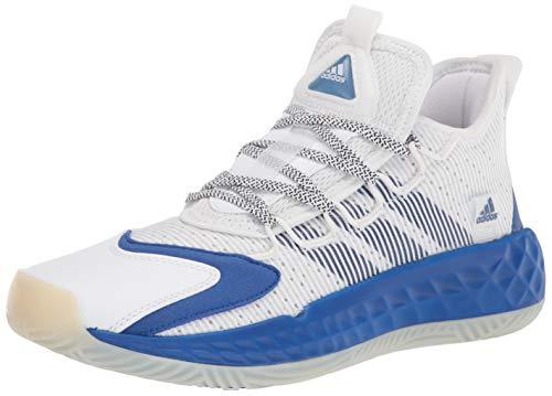 adidas unisex adult Coll3ctiv3 2020 Low Basketball Shoe, White/Royal Blue/White, 11 US