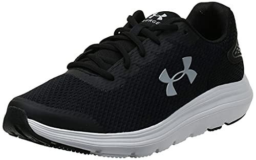 Under Armour Men's Surge 2 Running Shoe, Black (001)/White, 13