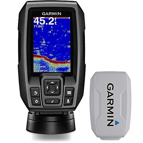 Garmin Striker 4 3.5' Chirp Fishfinder GPS (010-01550-00) with Protective Cover (Renewed)