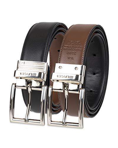 Tommy Hilfiger Men's Reversible Belt, Black/Brown Silver, 34