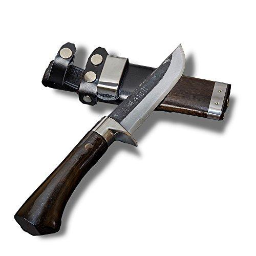 HONMAMON'AZUMASYUSAKU' Japanese 'Kurouchi' Hunting Knife 120mm, Aogami Steel, Double Bevel