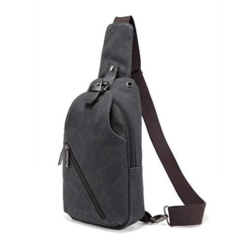 Sling Bag Shoulder Chest Crossbody Bags for Men Women,Retro Canvas Crossbody