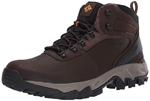 Columbia mens Newton Ridge Plus Ii Waterproof Hiking Boot, Cordovan/Squash, 10.5 US