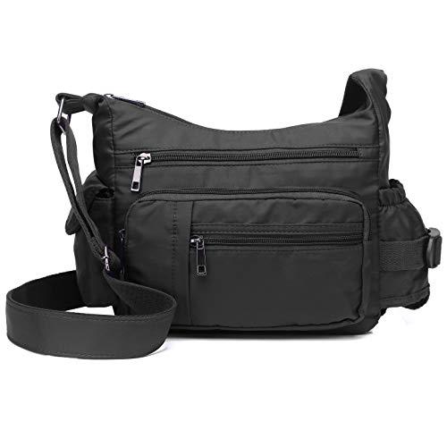 RFID Anti Thief Crossbody Bag for Women Waterproof Shoulder Bag Messenger Bag Casual Nylon Purse Handbag