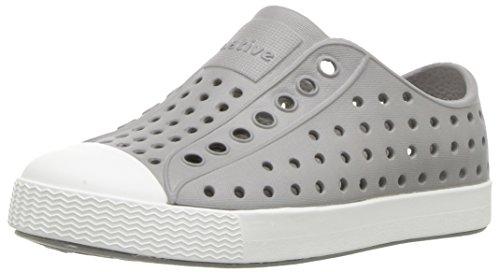 Native Kids unisex-baby Jefferson Water Shoe,pigeon grey/shell white,7 Medium US Toddler