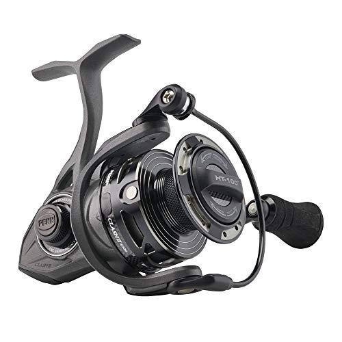 PENN Clash II Spinning Fishing Reel Grey/Black, 2500