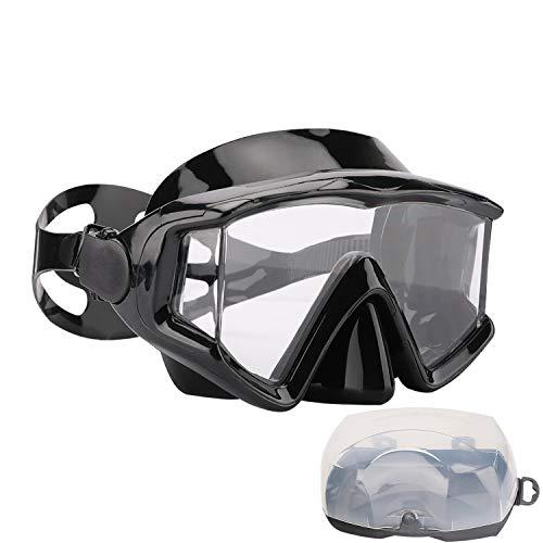AQUA A DIVE SPORTS Diving mask Anti-Fog Swimming Snorkel mask Suitable for Adults Scuba Dive Swim Snorkeling Goggles Masks (Black)