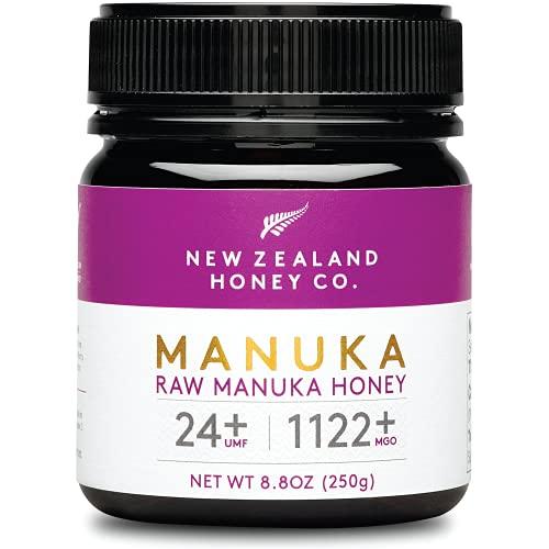 New Zealand Honey Co. Raw Manuka Honey UMF 24+ / MGO 1122+, UMF Certified / 8.8oz