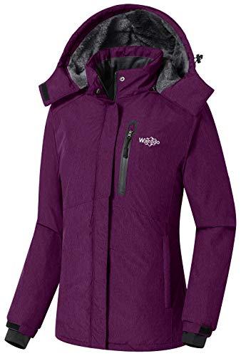 Wantdo Women's Waterproof Insulated Parka Windproof Ski Jacket Purple, X-Large