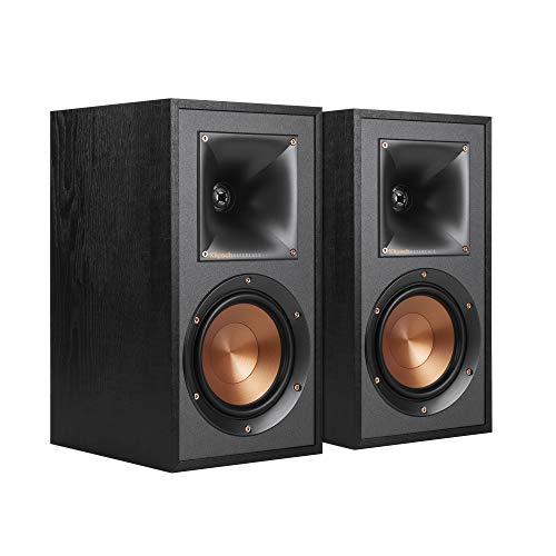 Klipsch R-41M Powerful detailed Bookshelf Home Speaker Set of 2 Black