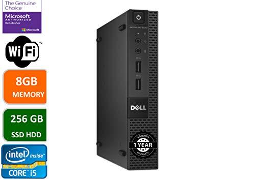 Dell Optiplex 9020 Ultra Small Tiny Desktop Micro Computer PC (Intel Core i5-4590T, 8GB Ram, 256GB Solid State SSD, WiFi, Bluetooth, HDMI Win 10 Pro (Renewed)