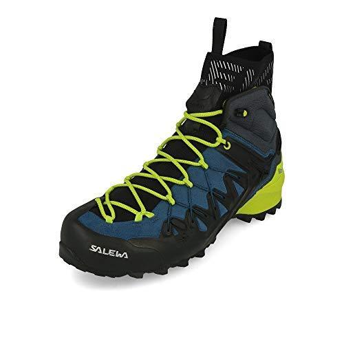 Salewa Wildfire Edge GTX Mid Hiking Boot - Men's Poseidon/Cactus, 11.5