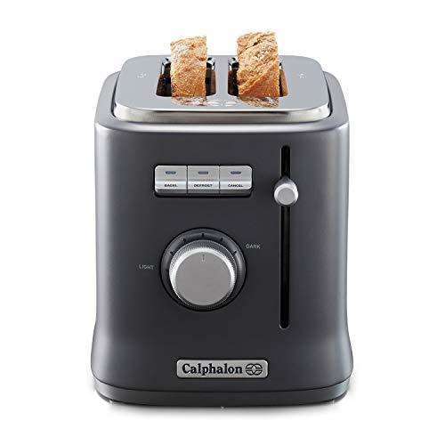 Calphalon Precision Control 2 Slice Toaster, Dark Grey
