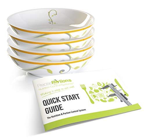 Portion Control PPSB-4 - Snack Bowl for Fruit or Snacks; Microwaveable Porcelain.