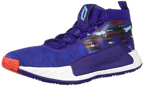 adidas Men's Dame 5 Basketball Shoe, Purple/Collegiate Royal/White, 11 M US