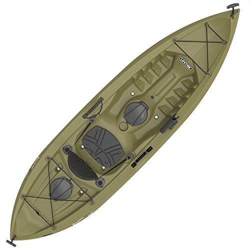 LIFETIME Tamarack Angler Sit-On-Top Kayak, Olive, 120'