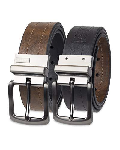 Levi's Men's Reversible Casual Jeans Belt, Brown/Black 1, Medium (34-36)