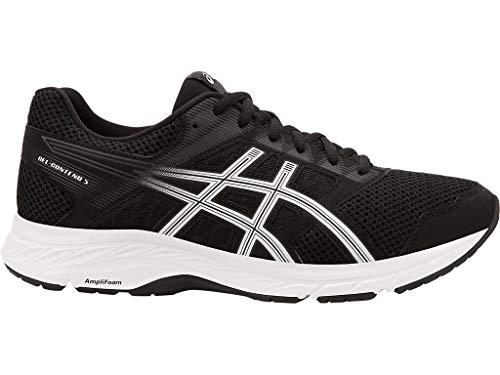 ASICS Men's Gel-Contend 5 Running Shoes, 10.5XW, Black/White