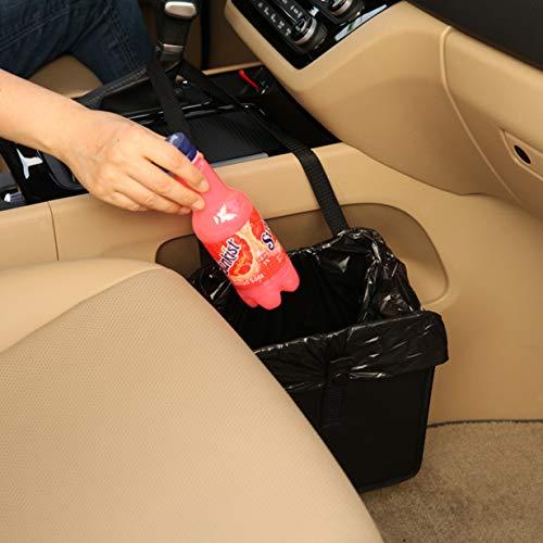 KMMOTORS Jopps Foldable Car Garbage Can Patented Car Wastebasket Comfortable Multifuntional Oxford Car Organizer Enough Storage for Garbage