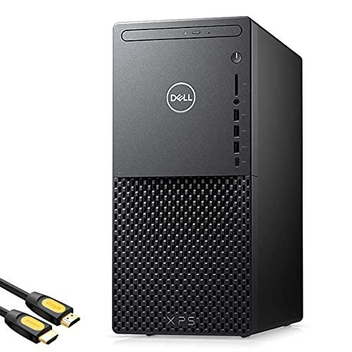 Dell XPS 8940 Gaming Desktop PC, 10th Gen Intel 8-Core i7-10700, GeForce RTX 2060, 32GB RAM, 1TB PCIe SSD, Wi-Fi 6, USB-C, HDMI/DP/DVI, Optical Drive, RJ-45, Mytrix HDMI Cable, Win 10