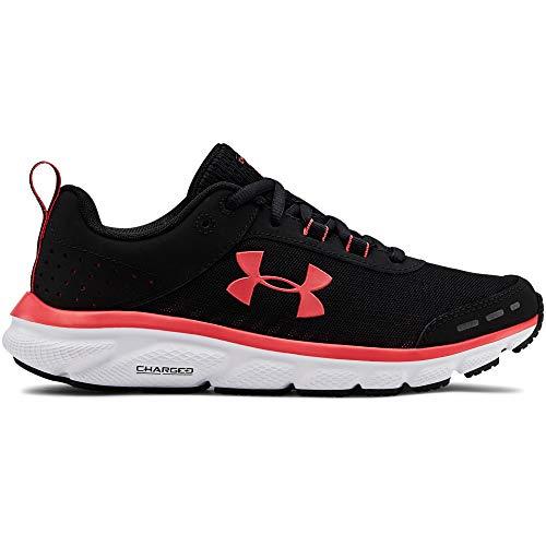 Under Armour Women's Charged Assert 8 Running Shoe, Black (003)/White, 9.5