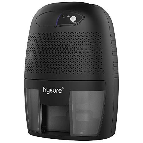 hysure Portable Mini Dehumidifier 2200 Cubic Feet Electric Safe Dehumidifier for Bedroom Home Crawl Space Bathroo RV Baby Room White (Dark)