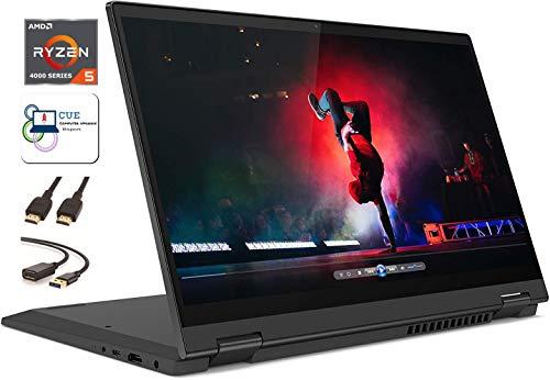 Lenovo Flex 5 14' 2-in-1 Convertible Touchscreen FHD Laptop Computer PC, Ryzen 5 4500u, 16GB RAM, 1TB SSD, Fingerprint, Backlit Keyboard, HDMI, Webcam, Stylus, Windows 10 +CUE Accessories Bundle
