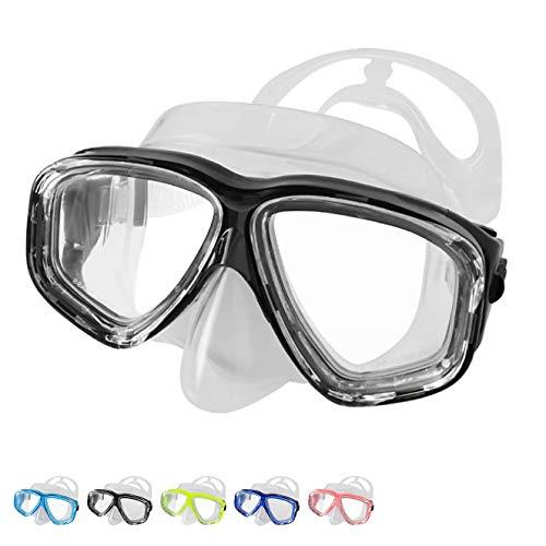 BPS Dive Mask - Antifog Scuba Diving Mask (Black)