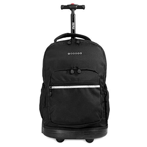J World New York Sunrise Rolling Backpack, Black, One Size
