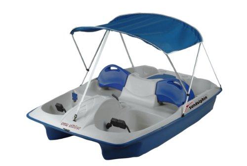 SUNDOLPHIN Sun Dolphin Sun Slider 5 Seat Pedal Boat with Canopy (Blue)