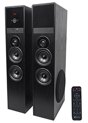 Rockville TM80B Black Home Theater System Tower Speakers 8' Sub/Bluetooth/USB
