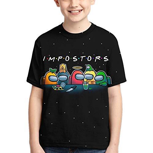 Boys' Imposter Tshirt, Girls Shirt Kids T-Shirt Youth Tees Short Sleeve Black L