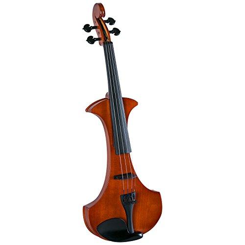 Cremona SV-180E Premier Student Electric Violin Outfit - 4/4 Size,Translucent Red Orange