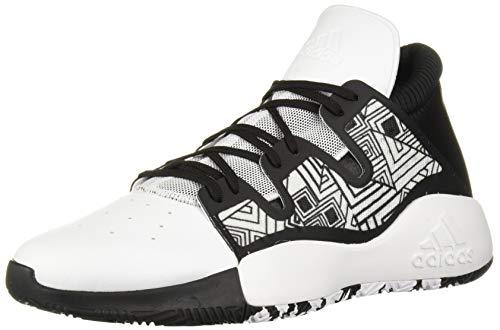 adidas Men's Pro Vision Basketball Shoe, White/Black/White, 11 M US