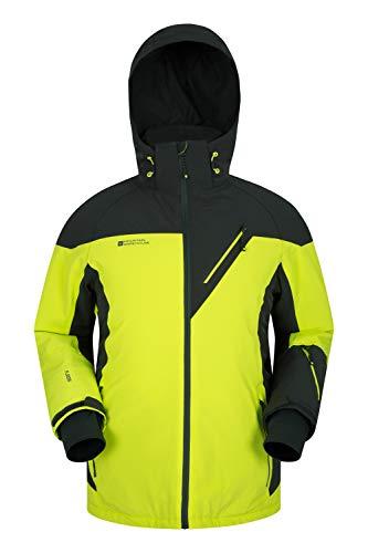 Mountain Warehouse Mens Waterproof Ski Jacket - Winter Salopettes Lime Large