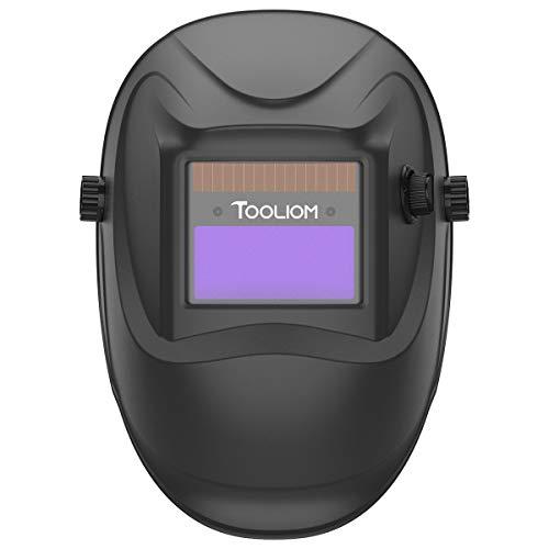 TOOLIOM Auto Darkening Welding Helmet True Color 1/1/1/2 Battery Powered Welding Mask with Adjustable Shade Range 4/9-13 for Grind/ARC MIG TIG Welding