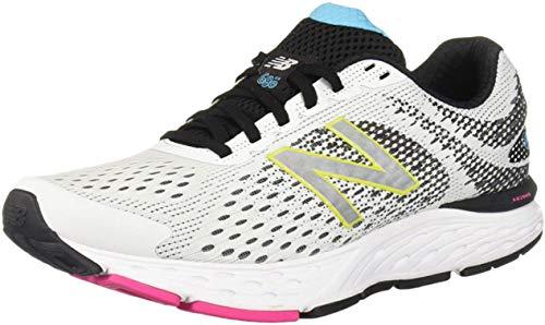 New Balance Women's 680 V6 Running Shoe, White/Black/Bayside, 9.5 M US