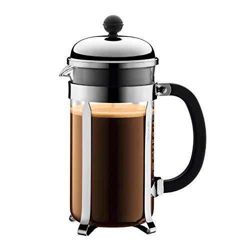 Bodum Chambord French Press Coffee Maker, 1 Liter, 34 Ounce, Chrome