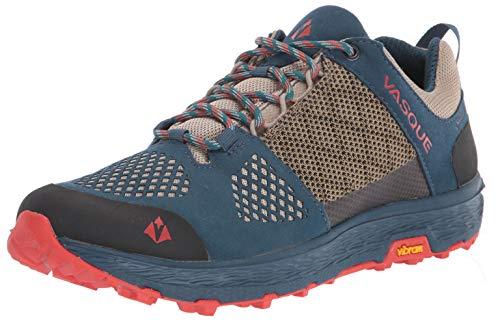 Vasque Women's Breeze LT Low GTX Gore-Tex Waterproof Breathable Hiking Shoe, Blue/Red, 8.5 M US