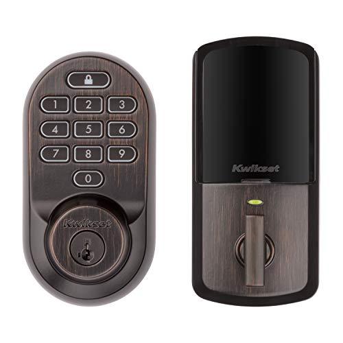 Kwikset 99380-002 Halo Wi-Fi Smart Lock Keyless Entry Electronic Keypad Deadbolt Featuring SmartKey Security, Venetian Bronze