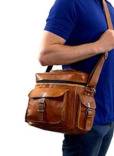 Genuine Leather DSLR SLR Vintage Camera Shoulder Messenger Bag Camera Satchel